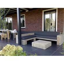 Lounge bank steigerhout