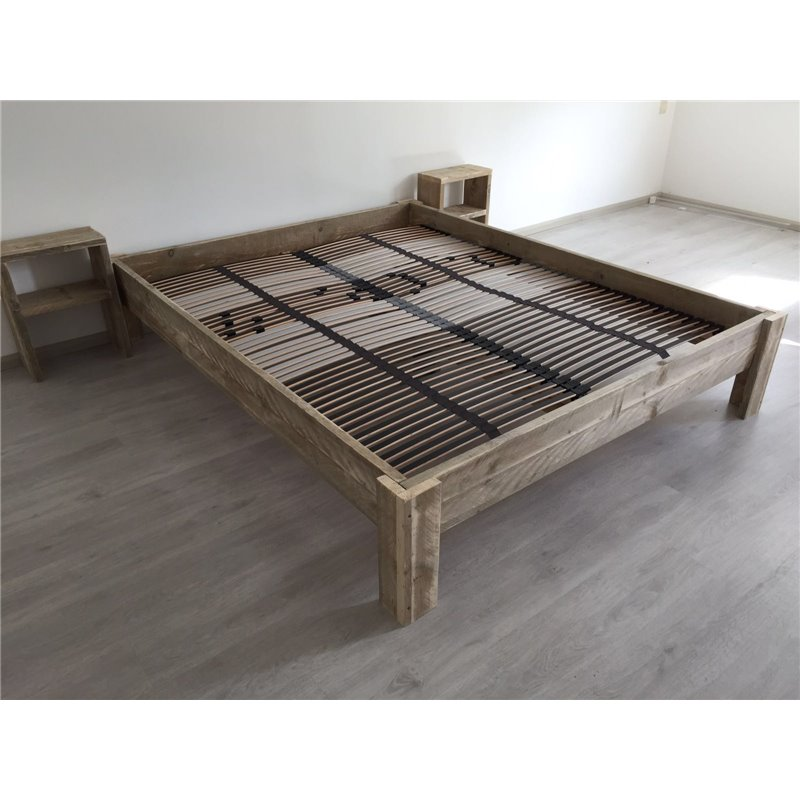 Bed steigerhout basic for Steigerhout bed